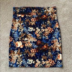 Agnes and Dora navy floral skirt sz 3x